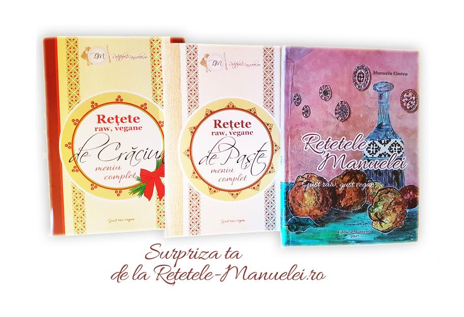 Pachet complet - Cartea tiparită cu Rețetele Manuelei și broșurile pentru sărbători