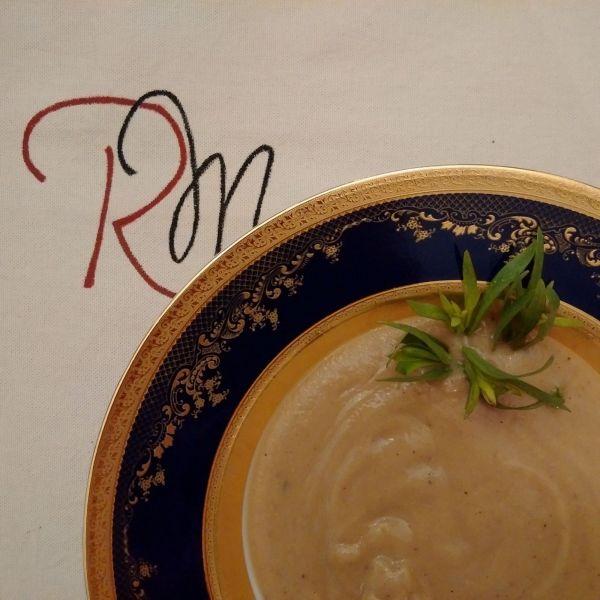 Supă cremă de castane și legume coapte