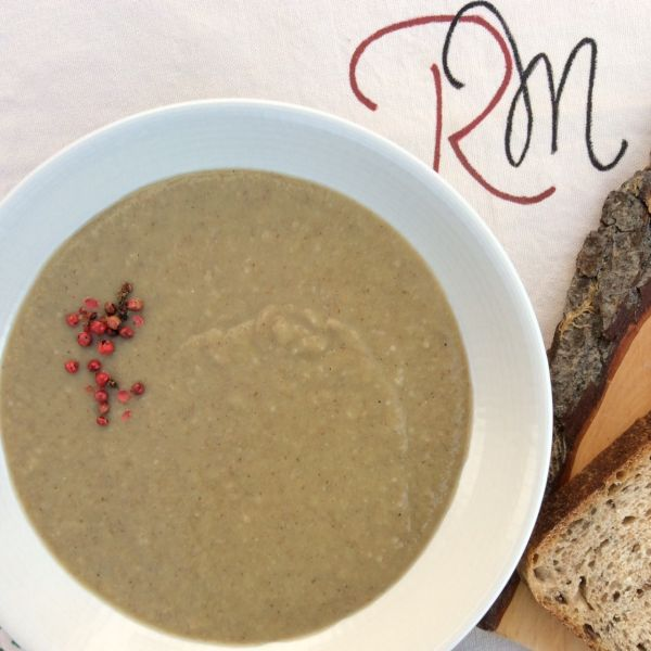 Supă cremă de praz cu grâu si linte