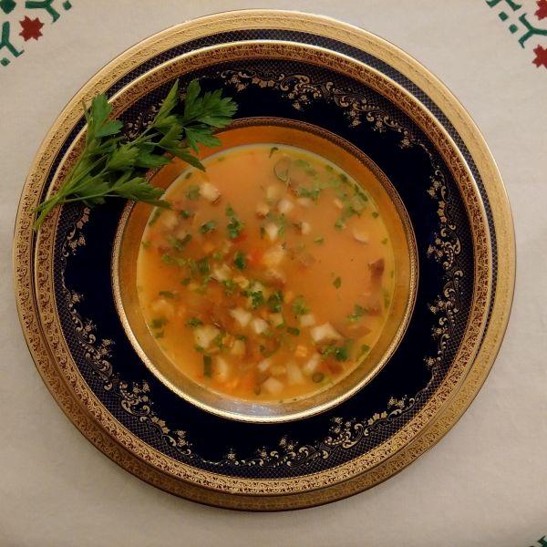 Supa raw din lapte de cocos si ciuperci
