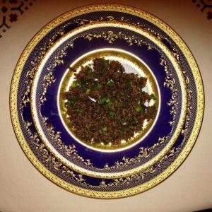 Orez negru cu leurdă și spanac