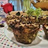 Brioșe din avocado cu urzici