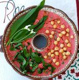 Hummus cu sfecla si LEURDA (sau cu usturoi verde)