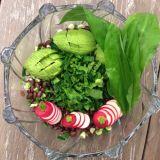 Salată de leurdă cu fasole roșie