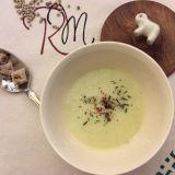 Supă cremă de praz cu piper alb