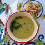 Supa crema de sparanghel si orez